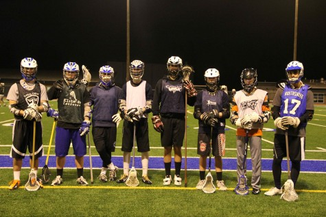 Players line-up during a practice after finishing a drill.  This is the first year in which all the players will be from Inglemoor after previously sharing a team with Bothell players.  As a part of Division II, they will play teams from Bothell, Lake Washington, Juanita, and Redmond High School.