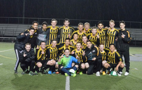 2014-2015 Varsity boys soccer team after their win against Mt. Si with a score of 2-0. This game was the KingCo championship and the team has earned a place in the state competition. Congratulations, boys!