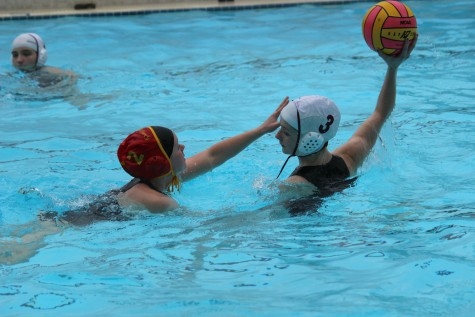 Water polo treads through rough water