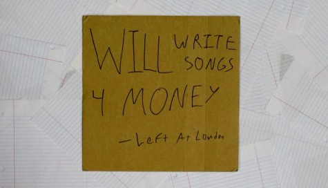 "Puff's  handmade album cover for Left At London's newest album ""Will Write Songs For Money."" Puff uses singular they/them pronouns."