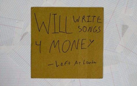 """Puff's  handmade album cover for Left At London's newest album """"Will Write Songs For Money."""" Puff uses singular they/them pronouns."""