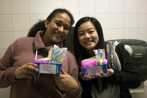 Girls bathrooms stocked with tampons and pads in a Random Act of Kindness