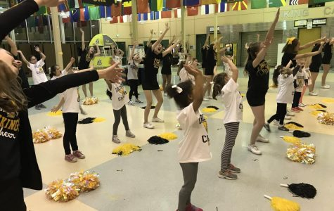 The Lil' Viks work on their routine on Wednesday, two days before their show. There are two Lil' Viks camps each year, open to students in pre-K to sixth grade.