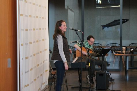 Choir students perform original music