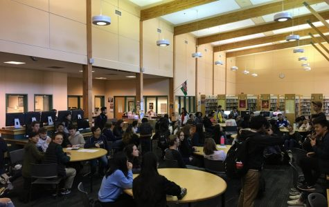 """FBLA officers and members attend a club meeting on Oct. 15. """"I don't think any of us believed we would go from being the largest club at Inglemoor to not existing this year,"""