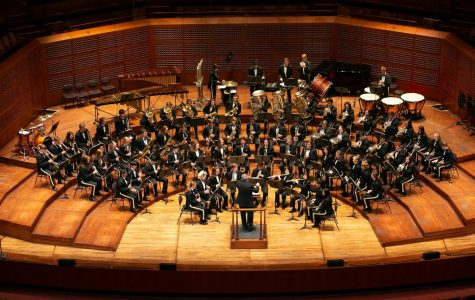 Wind Ensemble performs on April 8 in the Louise M. Davies Symphony Hall. Along with the Chamber Orchestra, they were selected for an encore.