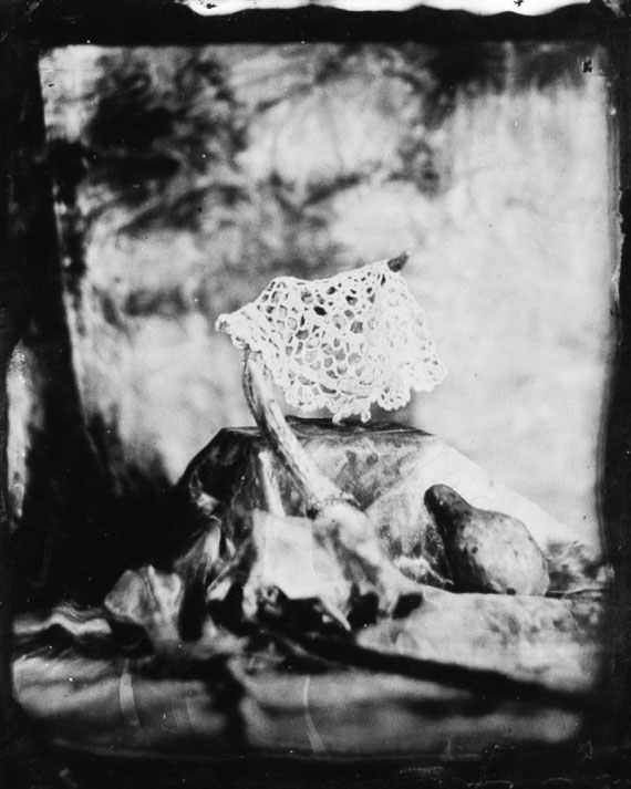 Nicole Villamil's winning still life captures a doily using only nineteenth-century technology.