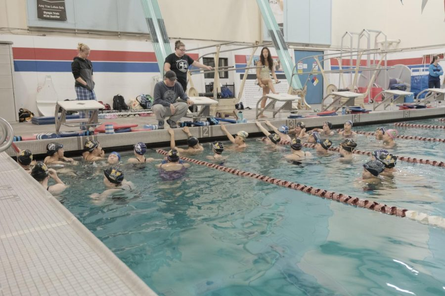 Girls swim/dive splash into a successful season