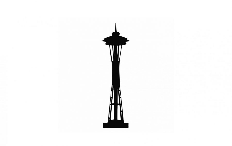 Seattle Space Needle; local news graphic to be used for local news. Art by Aditi Jain