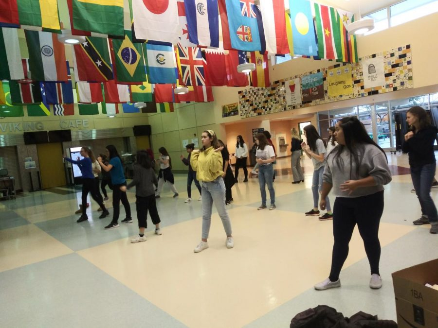 Students stand ready to participate in a self-defense class conducted afterschool. Photo by Minita Layal
