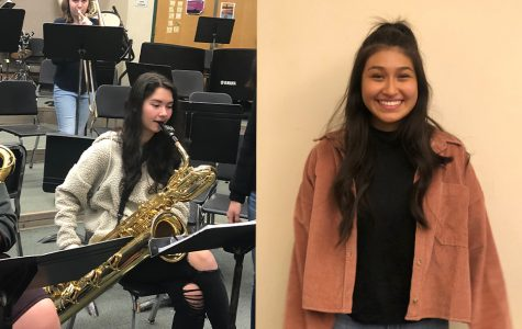 Senior Sidney Serna and junior Hannah Yoon volunteer for different organizations during the holiday season. Photos by Rahima Baluch and Cathy Zhao
