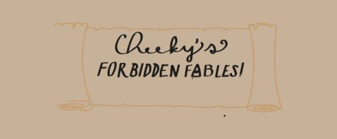 Cheeky's forbidden fables header. Art by Sonya Sheptunov and Kellen Hoard