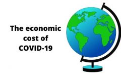 The economic cost of COVID-19. Art by Minita Layal