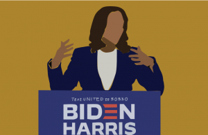 On Aug. 12 Democratic presidential candidate Joe Biden chose Californian Senator Kamala Harris as his running mate for the upcoming presidential election. Art by Rory Knettles.