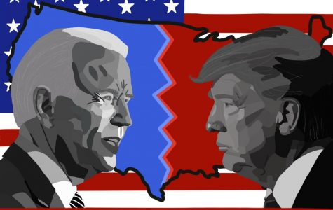 The 2020 presidential election has heated up in recent days with  Nov. 3 quickly approaching. Art by Mia Tavares