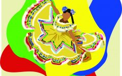 In the past, Hispanic culture has been celebrated with lively festivals. Hispanic Heritage Month (Sept. 15 to Oct. 15) welcomes this celebration and aids in the embracing of culture around the world. Art by Rory Knettles