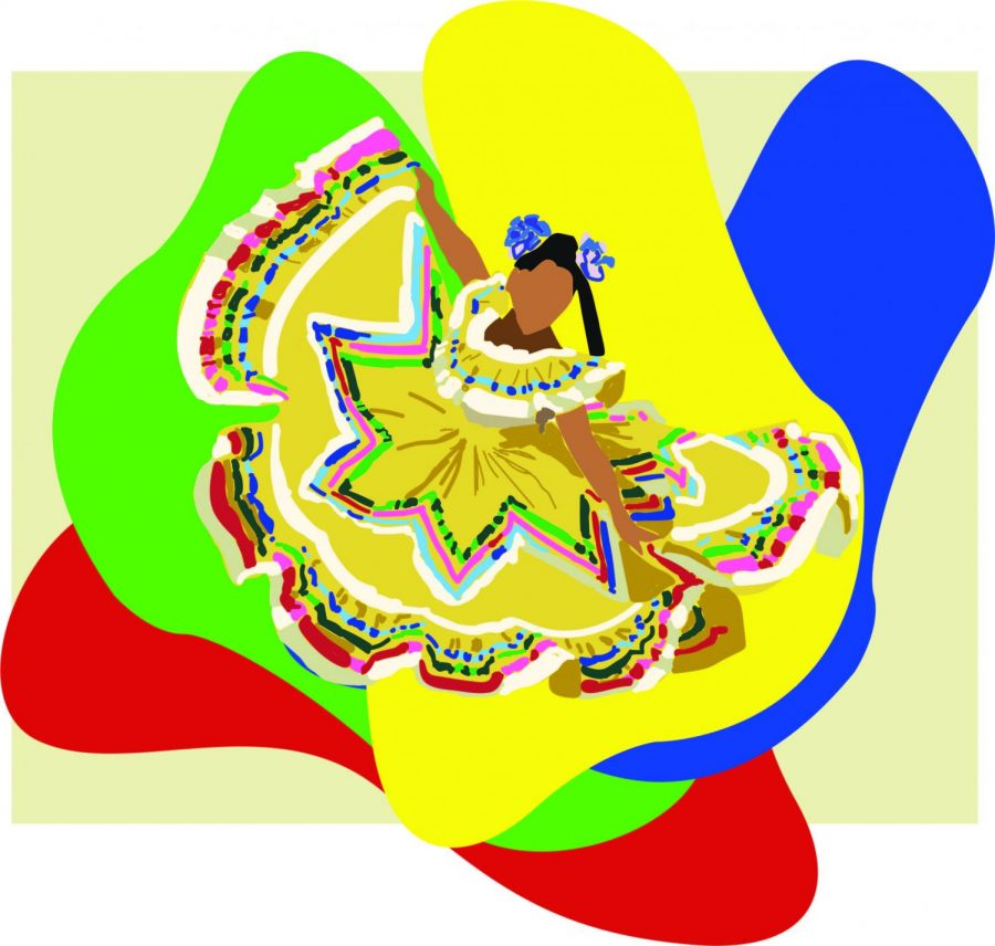 In+the+past%2C+Hispanic+culture+has+been+celebrated+with+lively+festivals.+Hispanic+Heritage+Month+%28Sept.+15+to+Oct.+15%29+welcomes+this+celebration+and+aids+in+the+embracing+of+culture+around+the+world.+Art+by+Rory+Knettles