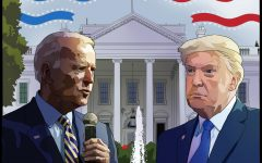 Despite President-elect Joe Biden garnering 306 certified electors to secure the Electoral College vote on Dec. 12,  President Donald Trump has yet to concede and continues to claim widespread election fraud. Art by Link Gazey.