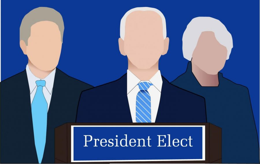 Despite+election+disputes%2C+President-elect+Joe+Biden+moves+forward+in+assembling+his+cabinet.+Art+by+Cassidy+Bixby