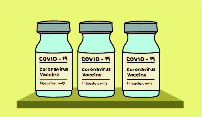 With COVID-19 numbers on the rise, the US goal of vaccinating 20 million people by the end of 2020 fell short, with only 11.1 million people vaccinated as of Jan.15. Art by Minita Layal.