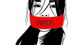 Asian Americans are being labelled as a virus, silencing their individuality. Art by Jackie Su.
