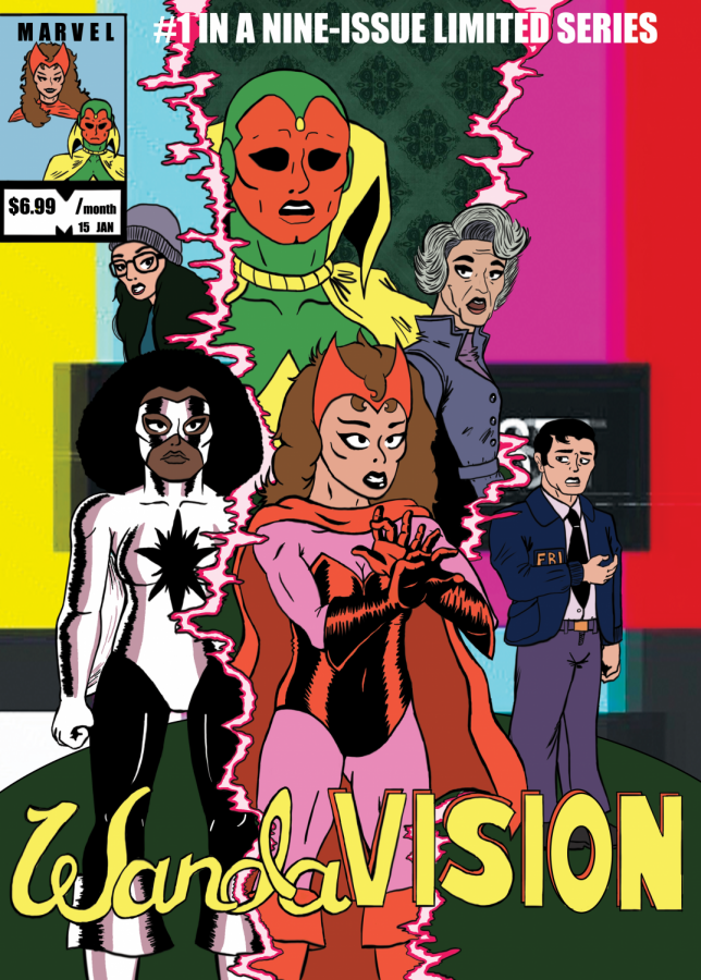 WandaVision%2C+the+first+series+from+Marvel+Studios+streaming+on+Disney%2B%2C+features+a+unique+blend+of+classic+television+tropes+and+the+MCU.+Art+by+Carter+Ross.+