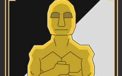 Does this statue represent the achievements of incredible actors and artists, or the disrespect of countless people in the film industry? Art by Carter Ross.