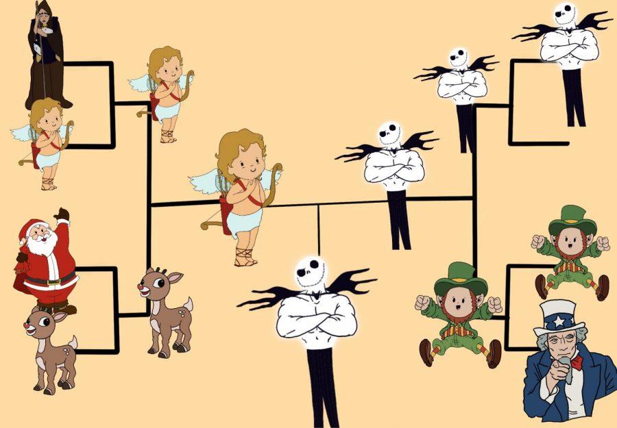Who will win Cheeky's Holiday Mascot bracket? Art by Mia Tavares.