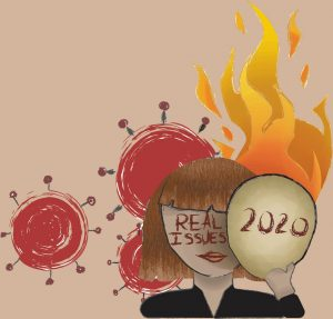 It is time to step up and take responsibility for our actions; the issues of 2020 have nothing to do with the year and everything to do with us. Art by Cassidy Bixby.