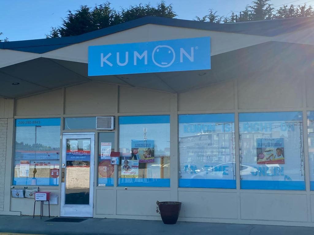 Kumon Math and Reading Center of Kenmore. The center's address is 6524 NE 181st St Suite 10, Kenmore, WA 98028 and the director and instructor of Kumon math and reading is Xiaohui Xi. She is looking to hire a couple assistants to work part time. You can contact her at 206-390-8943. Photo By Ishika Kaushik
